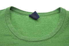 Neclkine of a Green Sweater Royalty Free Stock Images