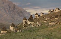 Necrópolis antiga de Alanian em Ossetia norte, Rússia Foto de Stock Royalty Free