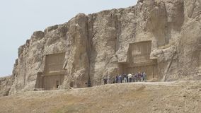Necrópolis antiga de Naqsh-e Rustam video estoque