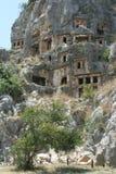 Necrópolis antiga em Myra Fotografia de Stock