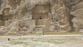 Necrópolis antigua de Naqsh-e Rustam almacen de metraje de vídeo