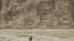 Necrópolis antigua de Naqsh-e Rustam almacen de video