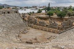 A necrópolis de Myra, Turquia do sul fotografia de stock