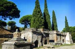 Necrópolis em Pompeii Imagens de Stock Royalty Free