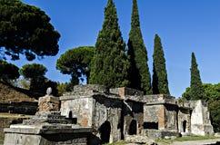 Necrópolis em Pompeii Fotografia de Stock Royalty Free