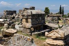 Necrópolis griega y romana Fotos de archivo libres de regalías