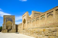 Necrópolis musulmán antigua en Bukhara, Uzbekistán Fotos de archivo