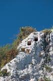 Necrópolis rochosa Fotografia de Stock