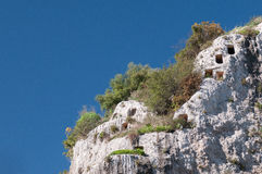 Necrópolis rochosa Imagem de Stock Royalty Free