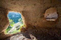 Necrópolis rocosa Foto de archivo libre de regalías