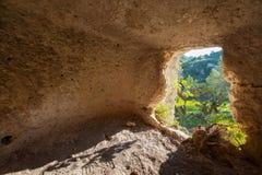 Necrópolis rocosa Imágenes de archivo libres de regalías