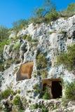 Necrópolis rocosa Imagen de archivo libre de regalías