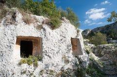 Necrópolis rocosa Imagenes de archivo