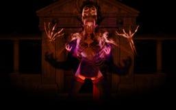 Necromancer do duende Imagens de Stock Royalty Free