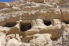 Necropoli di Matala, Creta Immagini Stock