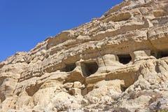 Necropoli di Matala, Creta Fotografie Stock