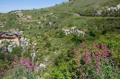 Necropoli di Pantalica, Sicily, Italy. Heritage Unesco Necropoli di Pantalica in the eastern Sicily, Italy stock photos