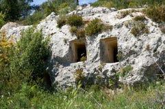 Necropoli di Pantalica, Sicily, Italy. Heritage Unesco Necropoli di Pantalica in the eastern Sicily, Italy stock photography