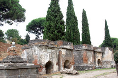 Necropoli di Porta Nocera en Pompeya, Italia Fotos de archivo