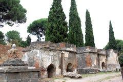 Necropoli di Porta Nocera i Pompei, Italien Arkivfoton