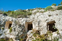 Necropoli rocciosa Fotografie Stock