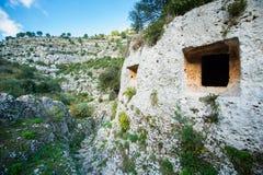 Necropoli rocciosa Immagine Stock