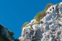 Necropoli rocciosa Fotografie Stock Libere da Diritti
