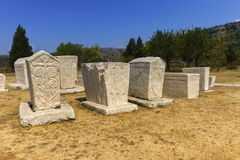 Necropoli, Stolac, la Bosnia e Erzegovina di Radimlja Fotografia Stock
