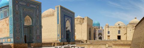 Necropolis. The ancient necropolis in Samarkand i Stock Image