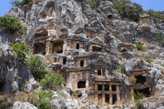 Necropolis. Tomb in the MYRA IN LICIA. Turkey Stock Photos