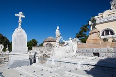 Necropolis Cristobal Colon.The main cemetery of Havana. Royalty Free Stock Image