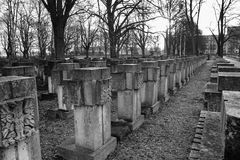 Necropolis Gdański Zaspa, Polska Obraz Royalty Free