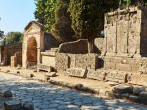 Ruins of Pompeii, ancient Roman city. Pompei, Campania. Italy. royalty free stock photography