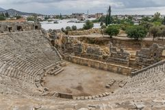 Necropolis Myra, Południowy Turcja fotografia stock