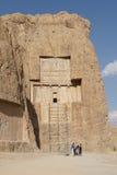 Necropolis, Naqsh-e Rostam, Iran, Asia. NAQSH-E ROSTAM, IRAN - OCTOBER 6, 2016: Necropolis of the Achaemenid kings in Naqsh-e Rostam on October 6, 2016 in Iran stock photos