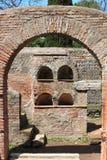 Necropolis in Ostia Antica Stock Photos