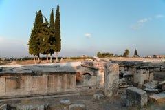 Necropolis von Hierapolis Lizenzfreies Stockbild