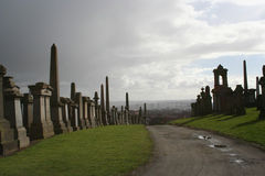 Necropool, Glasgow stock afbeeldingen