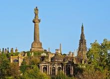 Necrópolis en Glasgow, Escocia Imagen de archivo