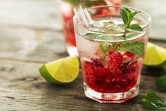 Nectar drink. Glasses refreshing eagerly Royalty Free Stock Images