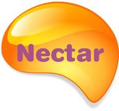 Nectar and Honey Design Logo Vector Royalty Free Stock Image