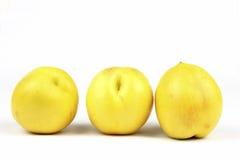 Nectarina amarelas Foto de Stock Royalty Free