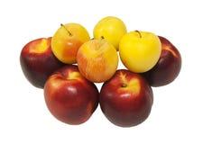 Nectarina e ameixas frescas Fotografia de Stock