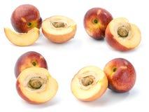 Nectarina, jogo das imagens Imagens de Stock Royalty Free