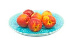 Nectarina maduras Fotografia de Stock Royalty Free