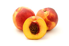 Nectarine. On a white background royalty free stock photography