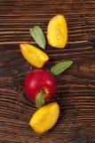 Nectarine background. Royalty Free Stock Images