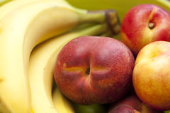 Nectarine and banana Royalty Free Stock Photo