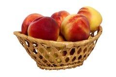 Nectarine in basket Stock Photo