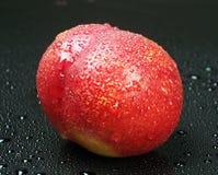 Nectarine on black Stock Image